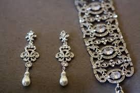 swarovski bridal earrings pearl chandelier earrings crystal earrings wedding jewelry pearl earrings knot earrings