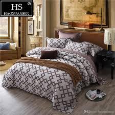 jacquard square plaid design grey bedding egyptian cotton bed sheets duvet cover pillowcase simple fashion oriental style black comforter full bargain