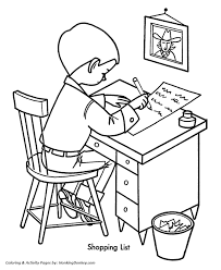 Christmas List Coloring Pages 2022236 Weareeachother Coloring