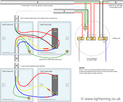 two way switching using a 3 wire control shown in the old cable colours