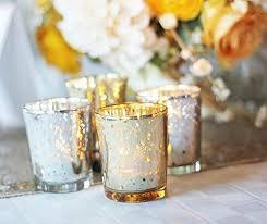 gold mercury glass votive candle holders tealight wedding home decor lighting 12