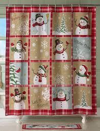 snowman shower curtain source