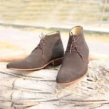 new handmade suede leather chukka boot for men s