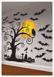 This year i've been a little bit of a slacker so far as far as decorating goes, but last year…i had some fun! Indoor Wall Decorating Kit Halloween Wall Decor Halloween Scene Halloween Scene Setters