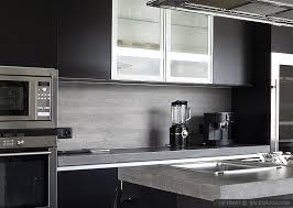 Modern Kitchen Backsplash Ideas Black Gray Tiles Modern Kitchen
