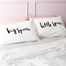 big spoon little spoon pillow cases bedroom