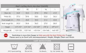 Cycling Jersey Size Chart Santic Cycling Jersey Mens Shorts Sleeve Tops Bike Shirts Bicycle Jacket With Pockets Half Zip