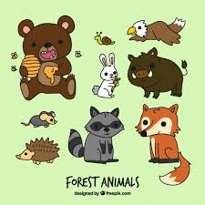 funny cartoon forest s free vector