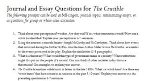 the crucible journal and essay questions by mrs jen tpt the crucible 25 journal and essay questions