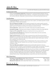 Objective For Construction Resume Carpentry Resume And Cover Letter Inspiration Unique Resume