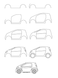 car drawing for kids step by step. How To Draw Car Learn Small With Simple Step By Instructions Drawing For Kids