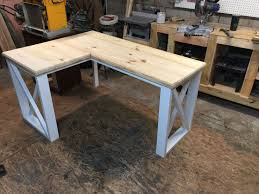 Rustic Desk Designs L Shaped Desk Created Using 2x4s And 2x8s Home Decor