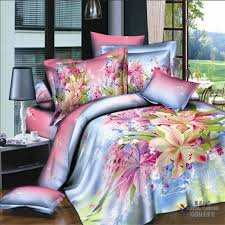 Bright Color Watercolor Painting Lily Floral Bedding Sets Queen ... & Bright Color Watercolor Painting Lily Floral Bedding Sets Queen / King Size  100% Cotton Fabric Duvet Cover Bed Sheet Pillowcase-in Bedding Sets from  Home ... Adamdwight.com