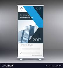 Business Banner Design Business Rollup Standee Banner Design Template Vector Image
