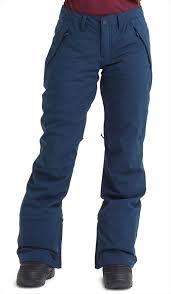 Burton Society Short Womens Snowboard Ski Pants M Dress Blue Heather