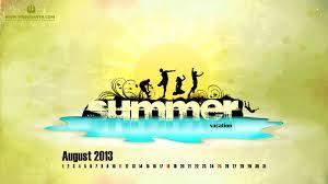August Theme Calendar August Calendar Wallpaper 6940226