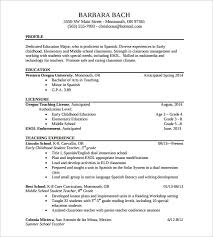 Teaching Resume Inspiration Gallery Of Sample Elementary Teacher Resume 60 Documents In Pdf Word