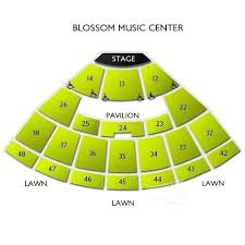 Blossom Music Center Lawn Seating Chart Blossom Seating Chart Videogametrailer Co