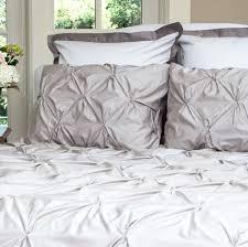 bedroom inspiration and bedding decor the valencia dove grey pintuck duvet cover crane and king duvet
