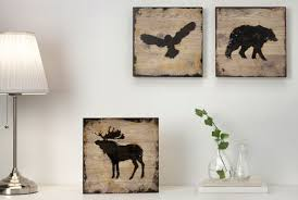 bj rnamo picture set of three animals on paris wall art ikea with ready to hang canvas wall art framed pictures more ikea