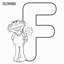 letter f color pages abc letter f flower sesame street zoe coloring page