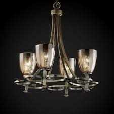 arcadia 5 light chandelier fusion collection arcadia 4 uplight chandelier shown in antique brass by justice