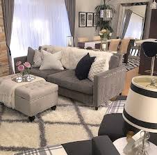 Lamp shade, fluffy rug and colour palette Living room