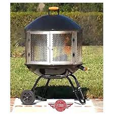 outdoor metal fireplace outdoor fireplace patio fire pit ring metal portable modern design large w wheels outdoor metal fireplace