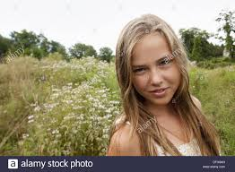 Very young girl blonde