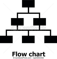 Flow Chart Logo Flow Chart Icon Simple Style