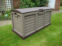 starplast large garden storage deck box litre capacity weather proof storage containers weatherproof storage bins