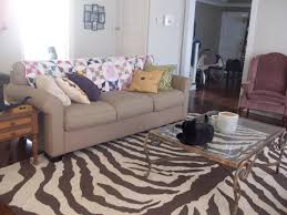 Zebra Rug Living Room Diy Zebra Rug Living Well On The Cheap