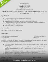Resume Sample For Human Resource Position How to Write a Perfect Human Resources Resume 56
