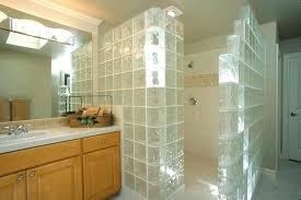walk in shower with window glass block vent door less walls over