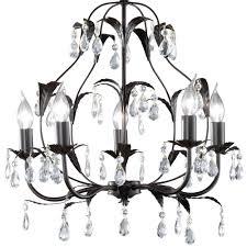 rusty chandelier with glass crystals height 1m monza bild 6