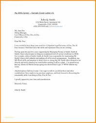 Free Sample Cover Letter For Resume Fresh Sample Cover Letter Free