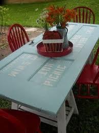 old door tables backyard furniture