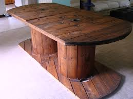 dream home diy spool table maybe for check in bar if we can find taller spools