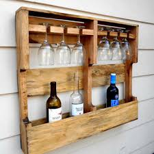pallet wine glass rack. Wood Wine Rack, Rustic 6 Glass Holder, From Upcycled Pallet Rack