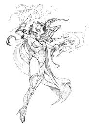 Small Picture Scarlet Witch Coloring Pages Sketch Coloring Page