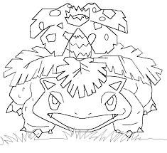 Pokemon Mega Venusaur Coloring Pages Get Coloring Pages