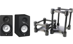 yamaha hs5 studio speaker and stand
