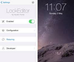 Customize the iOS lock screen with LockEditor