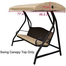 details about replacement canopy top for lowe s garden treasures porch swing model gcs00229c