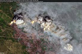 Striking Satellite Imagery Reveals Multiple Wildfires