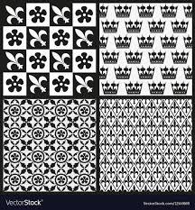 Medieval Patterns Stunning Set Of Medieval Patterns Royalty Free Vector Image