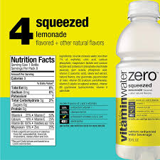 Vitamin Water Nutrition Chart Vitaminwater Zero Variety Pack 20 Fl Oz 12 Pack Amazon In