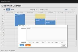 Calendar Scheduler Template 7 Steps To Appointment Calendar Template In Asp Net Mvc5