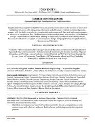 System Engineer Resume Template Systems Engineer Resume Samples
