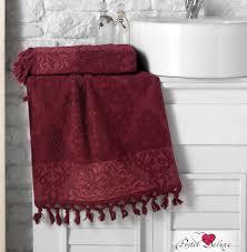 <b>Полотенце ottoman</b> цвет: бордовый из <b>жаккарда карна</b>